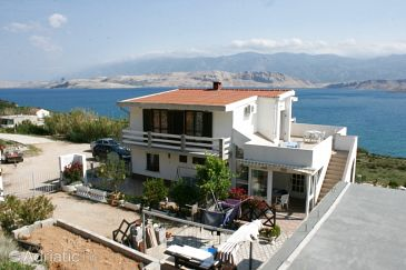 Property Bošana (Pag) - Accommodation 6460 - Apartments with pebble beach.