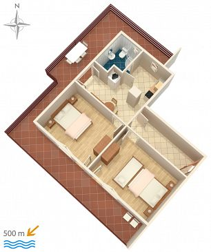 Apartament A-6478-a - Apartamenty Bilo (Primošten) - 6478