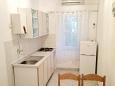 Novalja, Kitchen u smještaju tipa apartment, dostupna klima, dopusteni kucni ljubimci i WIFI.