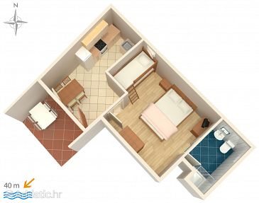 Apartment A-6498-c - Apartments Metajna (Pag) - 6498