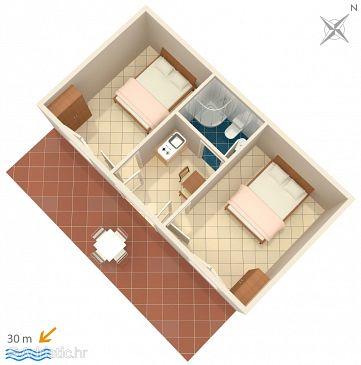 Pisak, Plan u smještaju tipa apartment, WIFI.