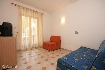 Mandre, Living room u smještaju tipa apartment, dostupna klima, dopusteni kucni ljubimci i WIFI.