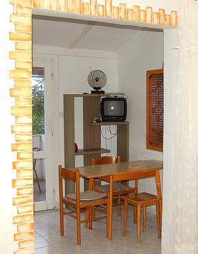 Vidalići, Dining room u smještaju tipa studio-apartment, dopusteni kucni ljubimci i WIFI.