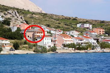 Property Metajna (Pag) - Accommodation 6522 - Rooms near sea with pebble beach.