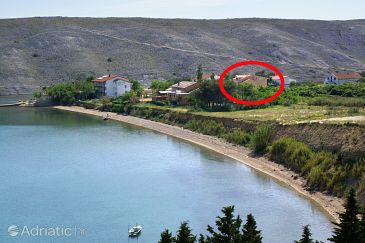 Property Vlašići (Pag) - Accommodation 6523 - Apartments near sea with sandy beach.