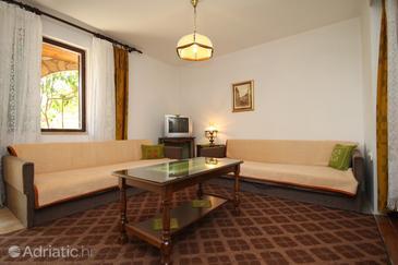 Starigrad, Living room u smještaju tipa apartment, dostupna klima, dopusteni kucni ljubimci i WIFI.