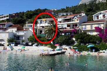 Obiekt Podgora (Makarska) - Zakwaterowanie 6670 - Apartamenty blisko morza ze żwirową plażą.
