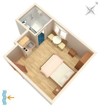 Studio AS-6695-a - Apartamenty Tučepi (Makarska) - 6695
