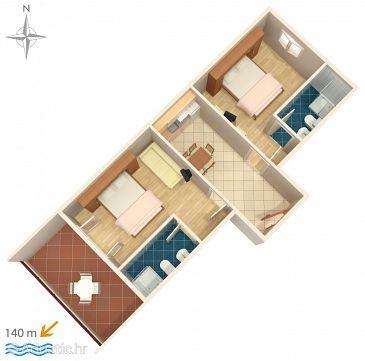 Apartment A-6750-c - Apartments Promajna (Makarska) - 6750