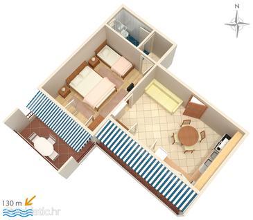 Apartment A-6760-a - Apartments Promajna (Makarska) - 6760