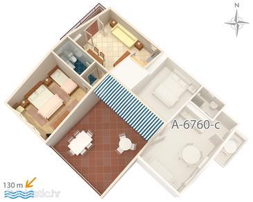 Apartment A-6760-d - Apartments Promajna (Makarska) - 6760