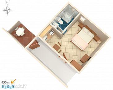 Studio flat AS-6763-d - Apartments Baška Voda (Makarska) - 6763
