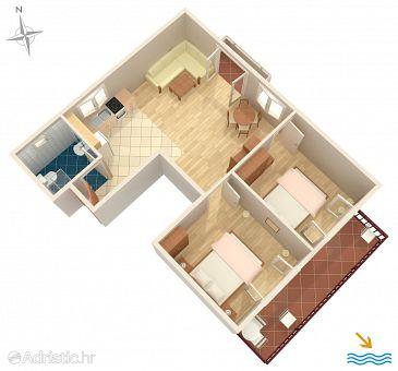 Apartment A-6764-a - Apartments Podgora (Makarska) - 6764