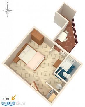 Studio flat AS-6803-a - Apartments Drašnice (Makarska) - 6803