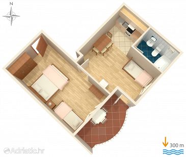 Apartment A-6820-d - Apartments Gradac (Makarska) - 6820