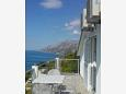 Terrace 1 - Apartment A-6828-b - Apartments and Rooms Brela (Makarska) - 6828
