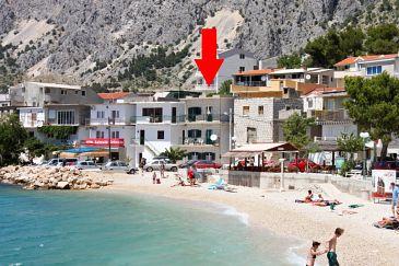 Drašnice, Makarska, Obiekt 6835 - Willa przy morzu ze żwirową plażą.