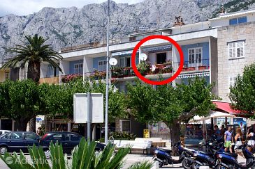 Property Makarska (Makarska) - Accommodation 6843 - Apartments near sea with pebble beach.