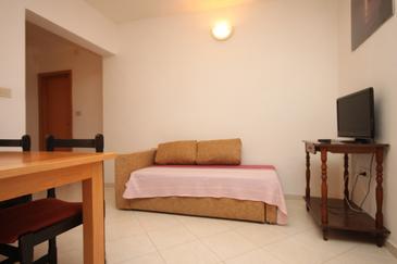 Makarska, Living room u smještaju tipa apartment, dostupna klima, dopusteni kucni ljubimci i WIFI.