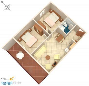Fiorini, Plan kwatery w zakwaterowaniu typu apartment, WIFI.