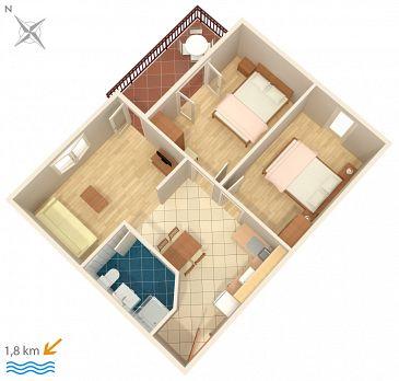 Apartament A-6951-c - Kwatery Novigrad (Novigrad) - 6951