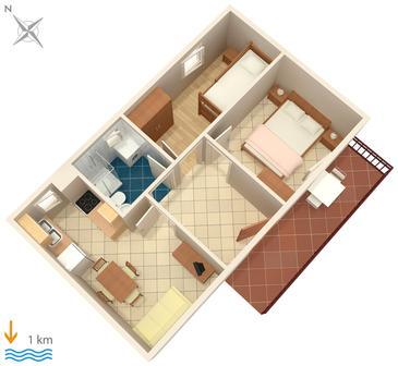Apartment A-6985-a - Apartments Pula (Pula) - 6985