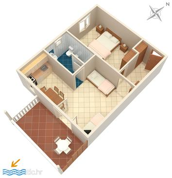 Apartment A-707-e - Apartments Sumartin (Brač) - 707