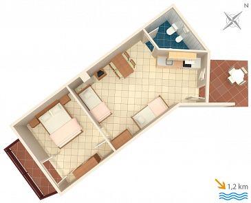 Apartament A-7240-d - Apartamenty Ližnjan (Medulin) - 7240