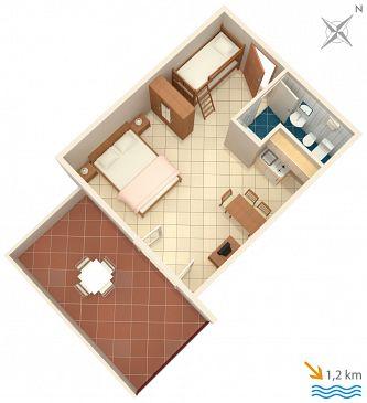 Studio AS-7240-b - Apartamenty Ližnjan (Medulin) - 7240