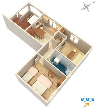 Apartament A-726-a - Apartamenty Mirca (Brač) - 726