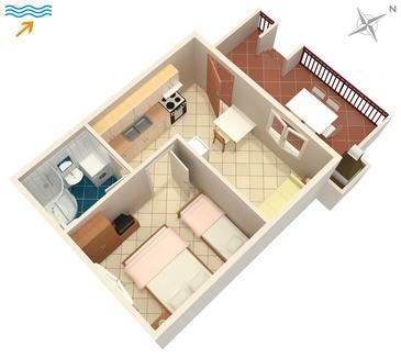 Apartament A-726-d - Apartamenty Mirca (Brač) - 726