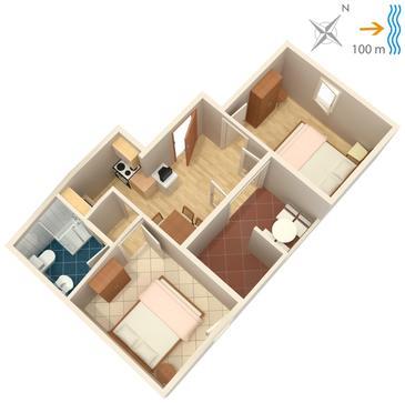Apartament A-739-c - Apartamenty Postira (Brač) - 739