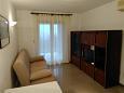 Presika, Obývací pokoj u smještaju tipa apartment, dostupna klima i WIFI.