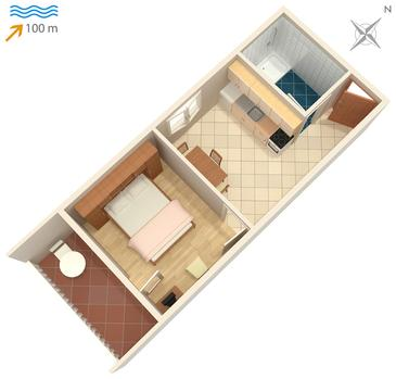 Apartament A-740-b - Apartamenty Postira (Brač) - 740