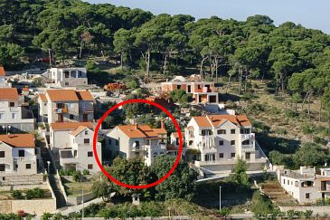Property Postira (Brač) - Accommodation 741 - Apartments with pebble beach.