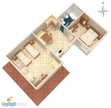 Rabac, Plan u smještaju tipa apartment, WIFI.