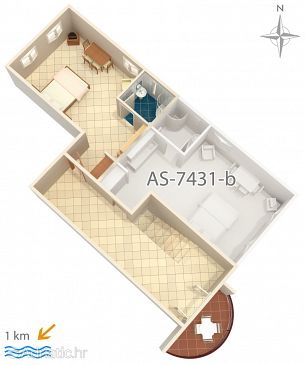 Studio flat AS-7431-a - Apartments Pula (Pula) - 7431