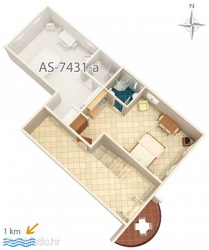 Studio flat AS-7431-b - Apartments Pula (Pula) - 7431