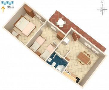 Apartament A-7506-a - Apartamenty Uvala Pobij (Hvar) - 7506