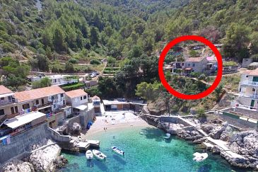 Property Uvala Pobij (Hvar) - Accommodation 7506 - Apartments near sea with pebble beach.