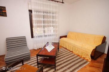 Rogoznica, Living room u smještaju tipa apartment, dopusteni kucni ljubimci i WIFI.