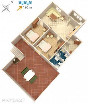 Slatine, Plan u smještaju tipa apartment, dopusteni kucni ljubimci i WIFI.