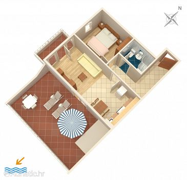 Apartment A-7589-a - Apartments Split (Split) - 7589