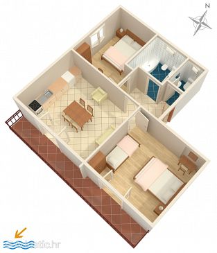Apartment A-7604-e - Apartments Vodice (Vodice) - 7604