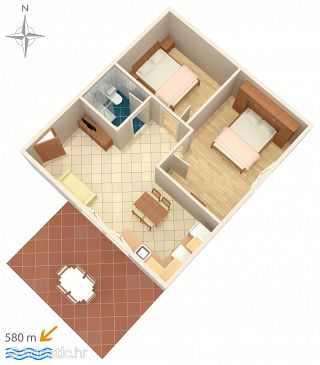 Apartment A-7639-a - Apartments and Rooms Novigrad (Novigrad) - 7639