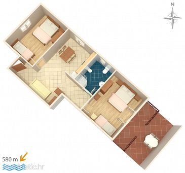 Apartment A-7639-b - Apartments and Rooms Novigrad (Novigrad) - 7639