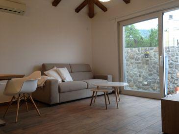 Lovran, Living room u smještaju tipa apartment, dostupna klima, dopusteni kucni ljubimci i WIFI.