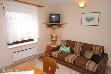 Mali Lošinj, Living room u smještaju tipa apartment, dopusteni kucni ljubimci i WIFI.