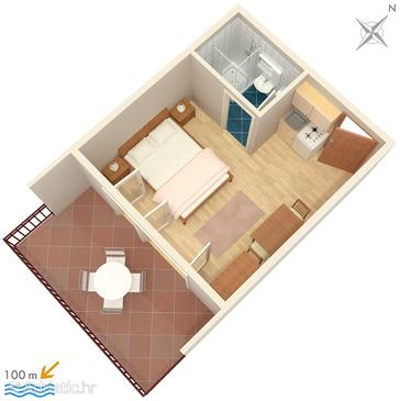 Studio flat AS-798-c - Apartments Jezera (Murter) - 798
