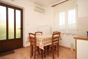Cres, Jadalnia w zakwaterowaniu typu apartment, dostupna klima, dopusteni kucni ljubimci i WIFI.